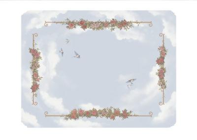 Le projet du plafond des roses.