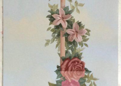 L' échantillon des roses et ses 2 variantes de tons