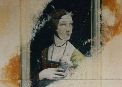 Fresque Dame à l'Hermine