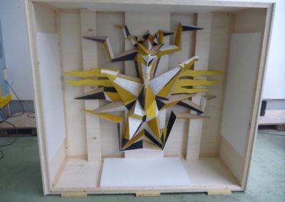 Pour Valentin Carron: réplique de sculpture, imitation de mosaïque.