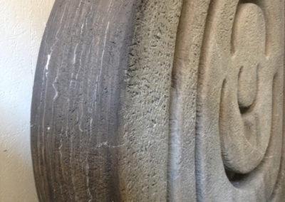 Pour Valentin Carron: réplique de sculpture, pierre.