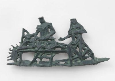 Pour Valentin Carron: réplique de sculpture, bronze.